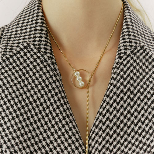#333 PEARL POINT LONG NECKLACE