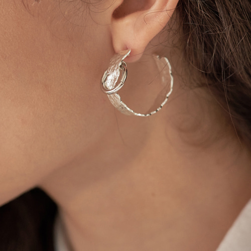 #808 EARRINGS [SILVER]